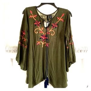 EUC new directions Embroidered Top